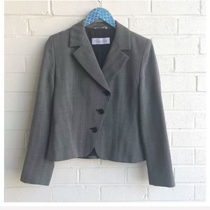 Max Mara Virgin Wool Asymmetrical Button Blazer